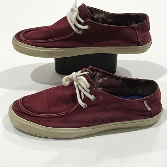 Vans Other - Vans Canvas Maroon Color Low Skate Shoes Men's 9.5